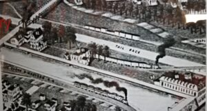 Kline Mill in 1915 located on Power Company Canal