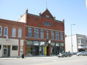 Lindauer building which housed the Fargo Furniture Store. Later was known as Bastians Dime Store.