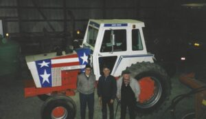 1986 final owners of Van Zeeland Implement Company. L to R: Clarence Smet, Jerry Ederer, Cleon Huss.
