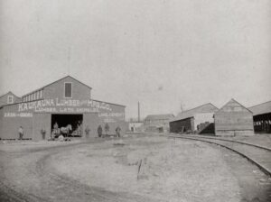 Early photo of Kaukauna Lumber & Manufacturing Co. on Island during 1920s-1930s.