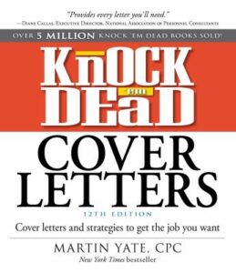 Knock 'em Dead Cover Letters Book Cover