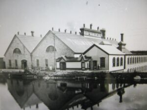 Thilmany Mill.  Photo was taken by Charles Stribley when he started at the mill.  Stribley was an amateur photographer.