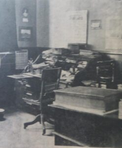 Charles Stribley's office at Thilmany Mill.