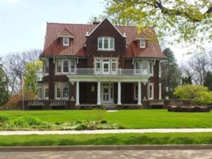 Stribley home built in 1910 and placed on the National Register of Historic Places in 1984.  Home is privately owned.